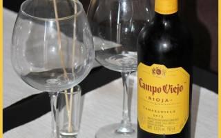 Отзыв о Вино красное сухое Rioja Campo Viejo, Campo Viejo Tempranillo 2013 года для меня оказалось тяжеловато
