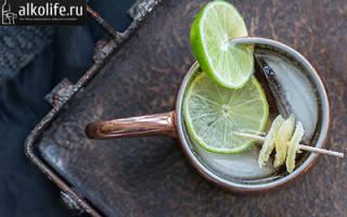 Московский мул: рецепт коктейля в домашних условиях